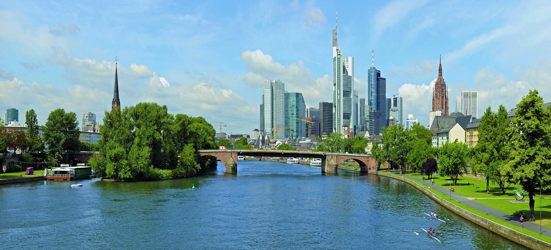 Skyline à Francfort en Allemagne