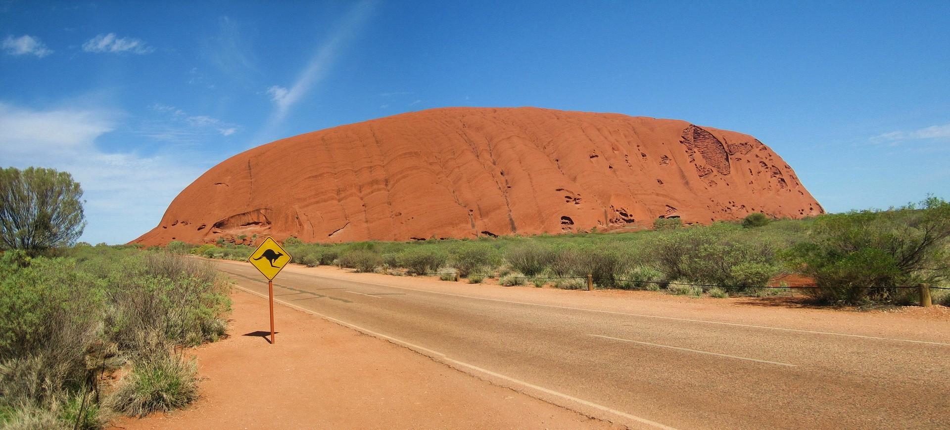 Rocher Uluru à Ayers Rock en Australie