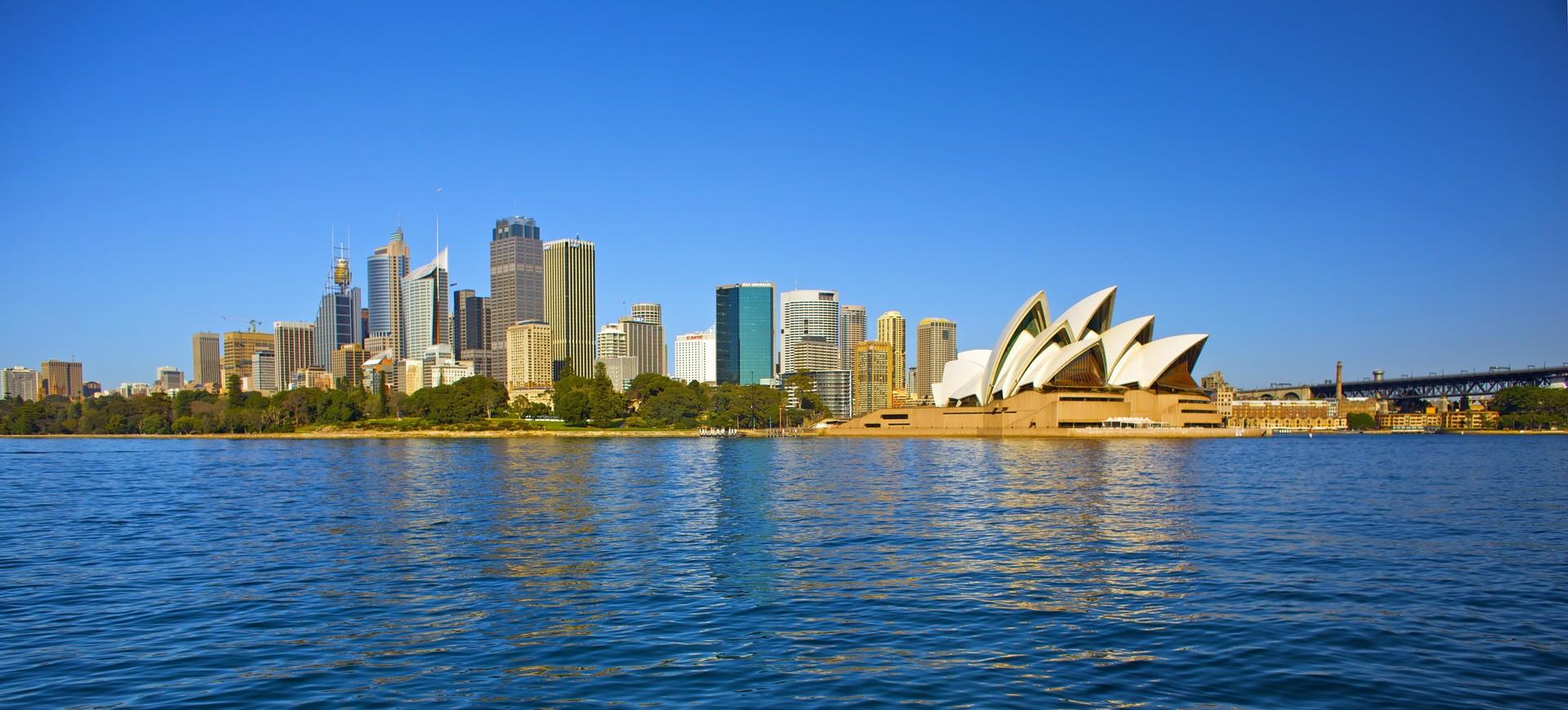 Opéra et Gratte-ciel à Sydney en Australie