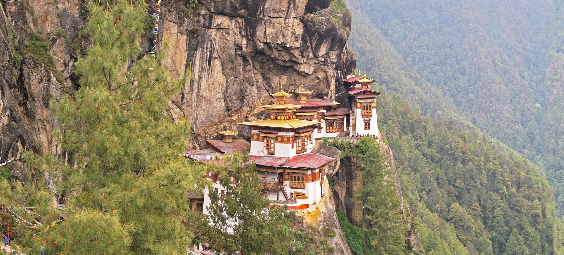 Le temple Tiger Nest au Bhoutan