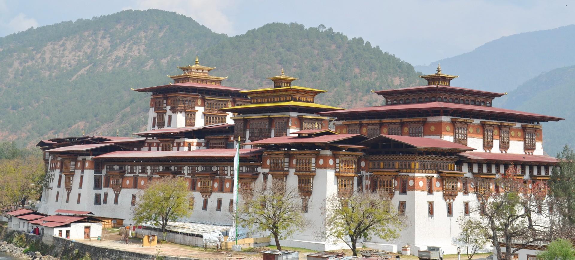 Bhutan Punakha Dzong Monastère