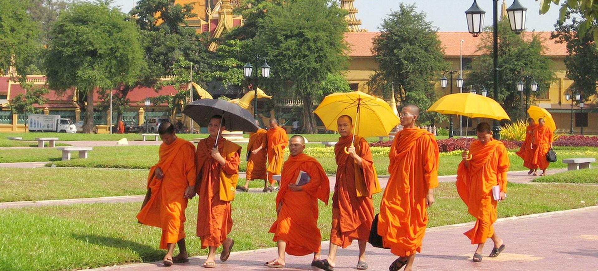Cambodge Phnom Penh Moines