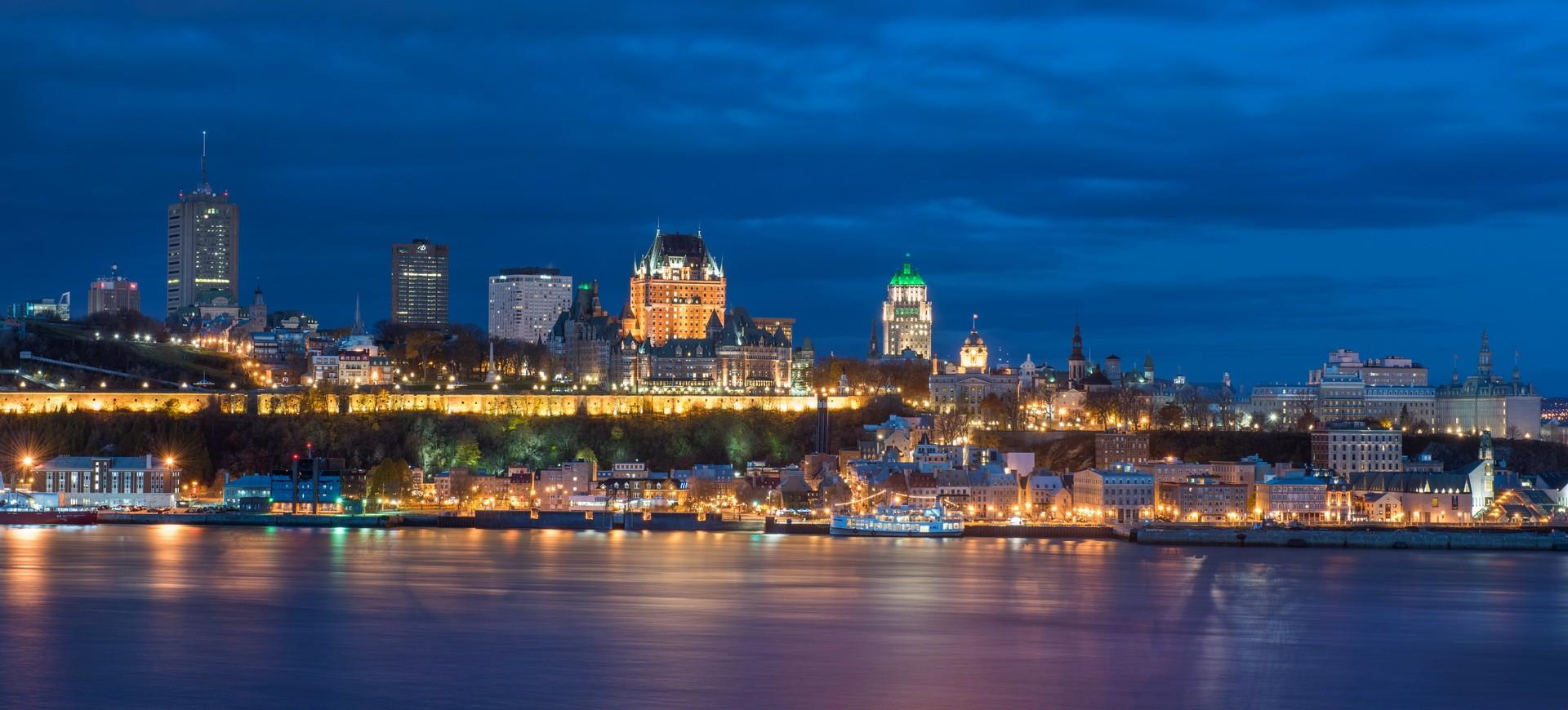 Canada Québec Panorama de Québec by night
