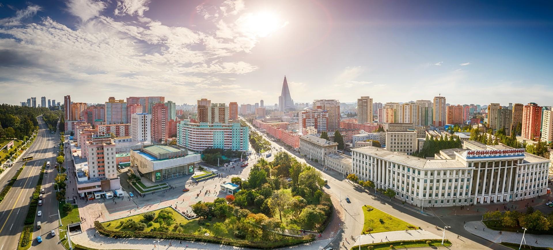 Pyiongyang vue panoramique en Corée du Nord