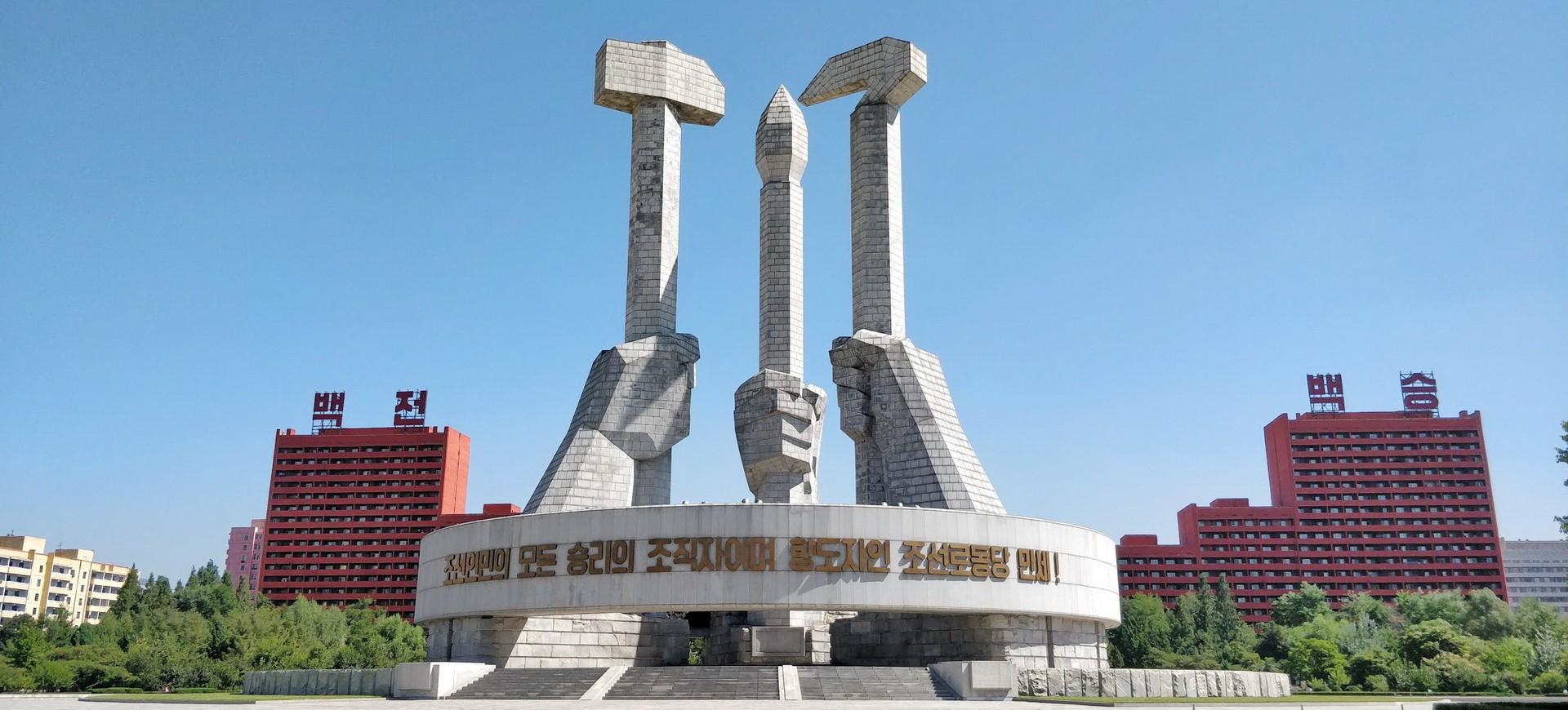 Pyongyang monument en Corée du Nord