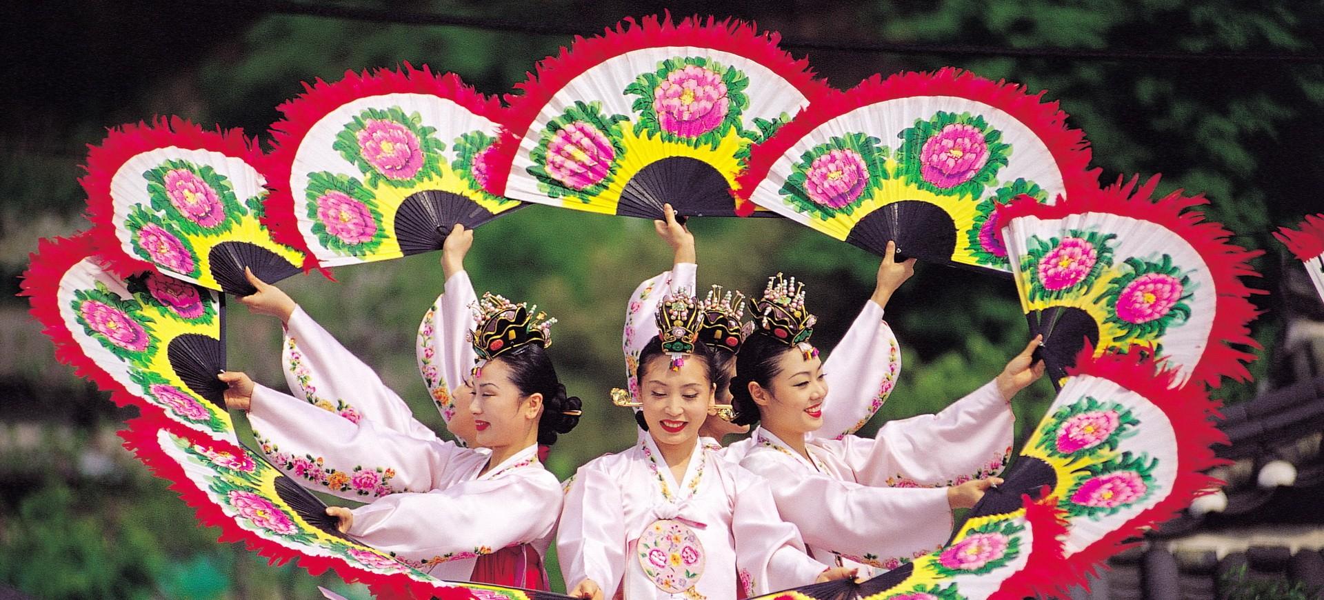 Danse traditionnelle en Corée du Sud