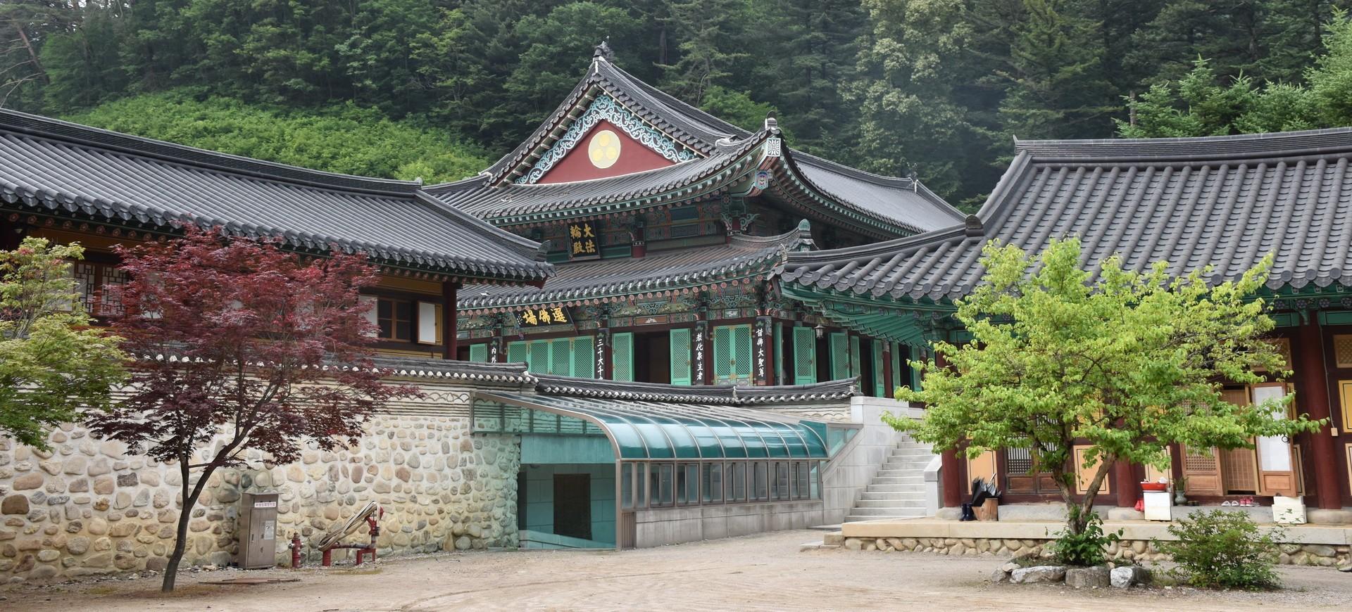 Temple Pyeongchang Temple Wolijeongsa en Corée du Sud