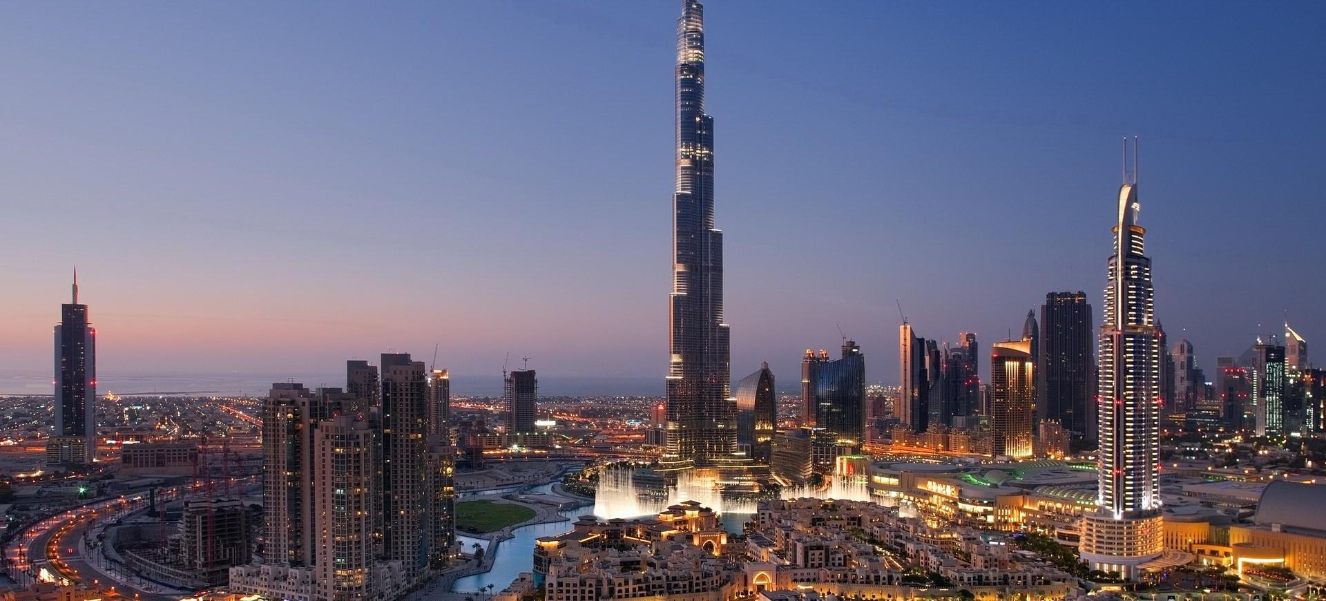 La tour Burj Khalifa by night