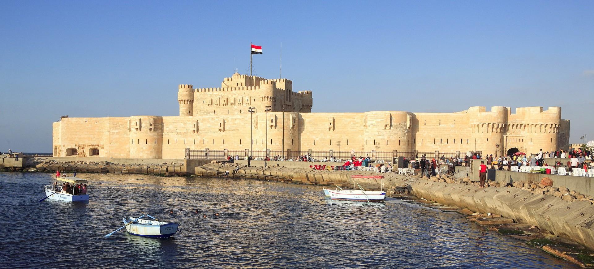Port  d'Elexandrie en Egypte