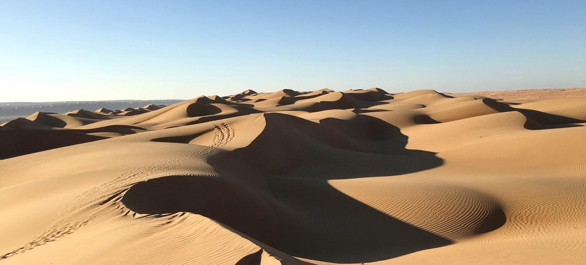 Désert du Dubai aux Emirats Arabes Unis