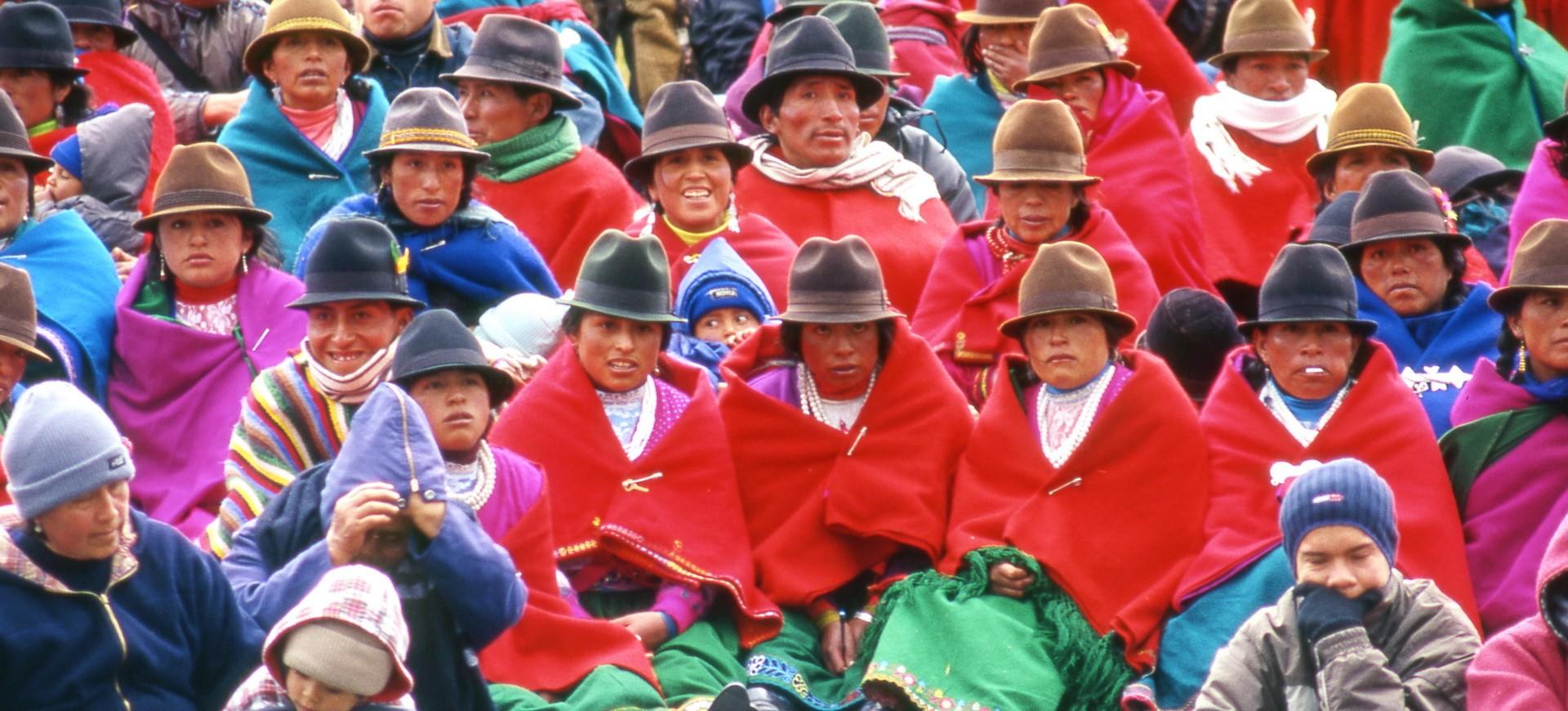 Population Indigène à Ozogoche en Equateur