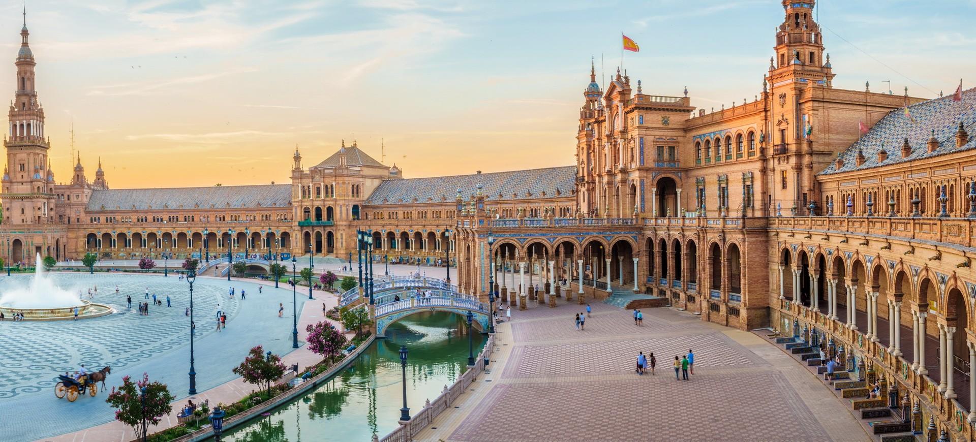Séville Plaza à Séveille en Andalousie Espagne