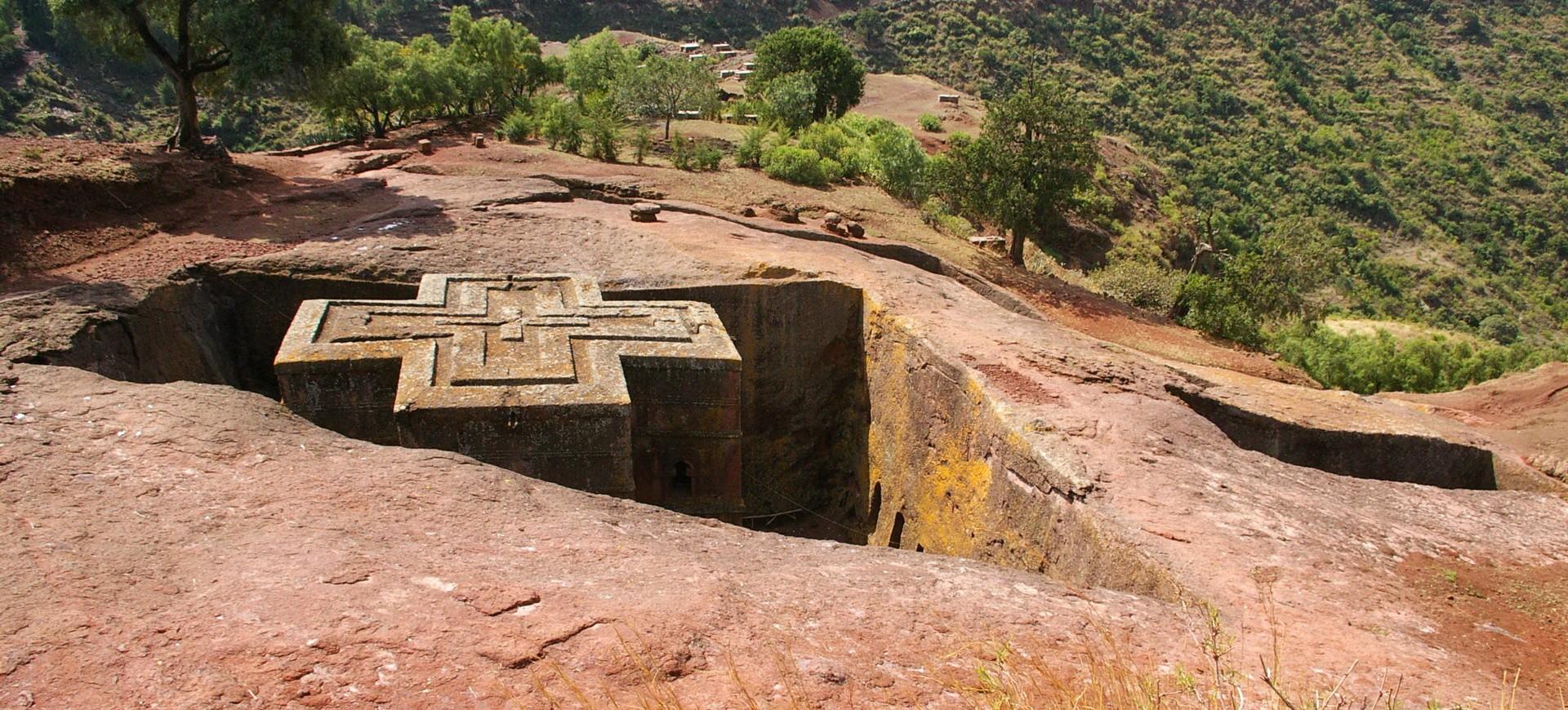 Eglise Beta Giorgis à Lalibela  en Ethiopie