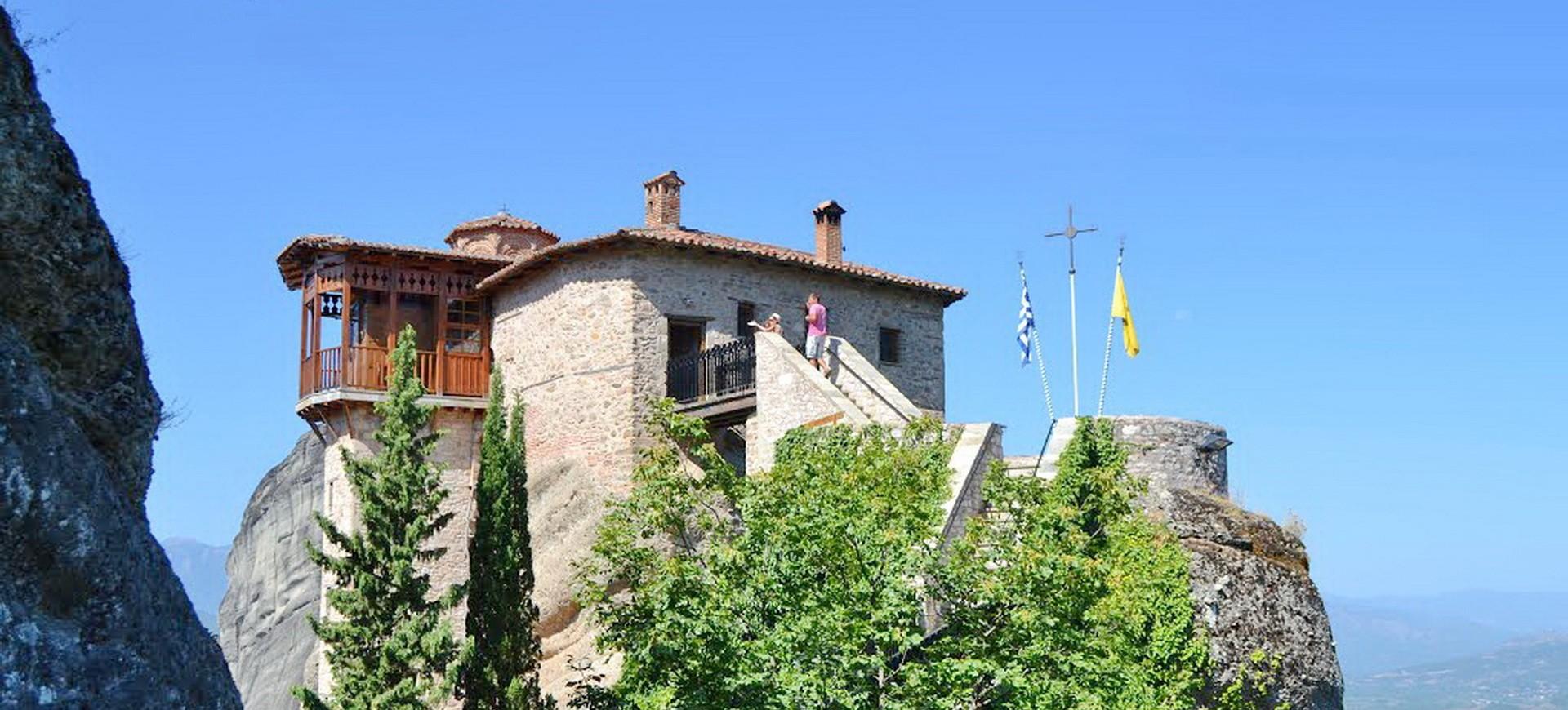 Monastère Saint Roussanou dans les Météores en Grèce