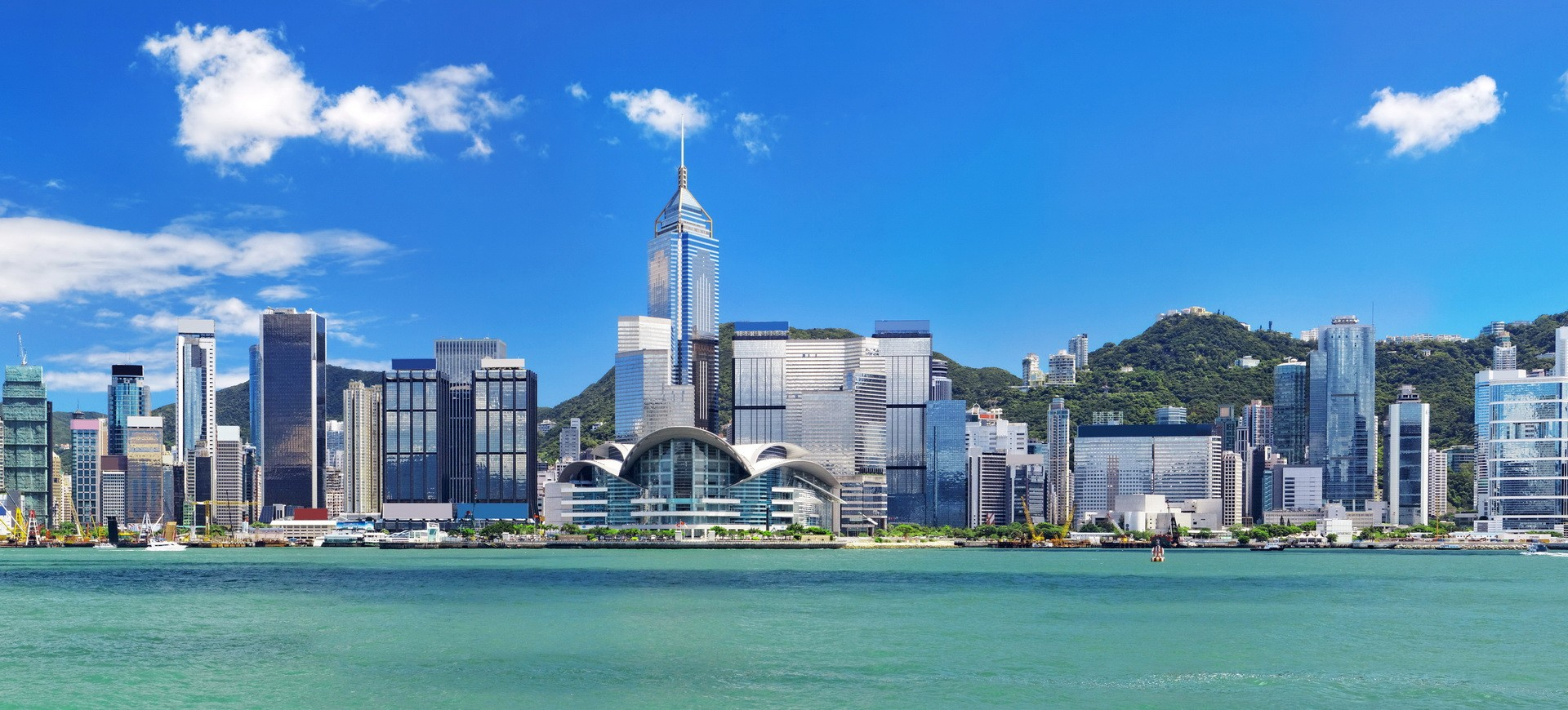 Vue panoramique de Hong Kong