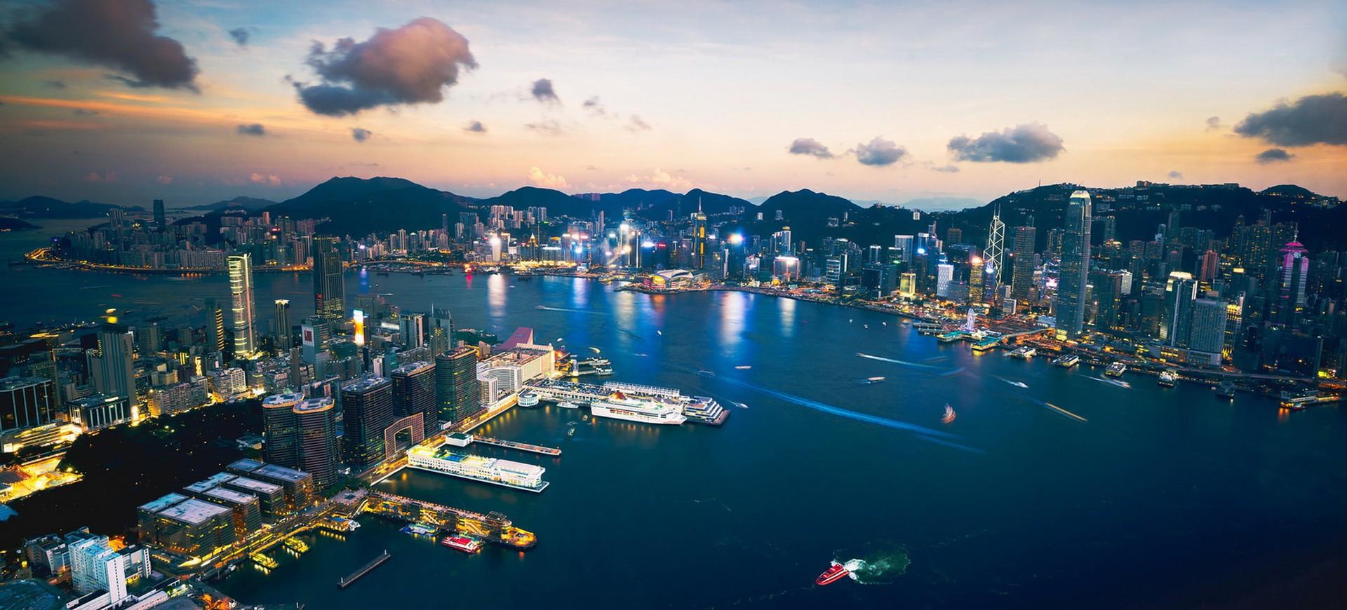 Hong Kong Baie et Skyline by night 002