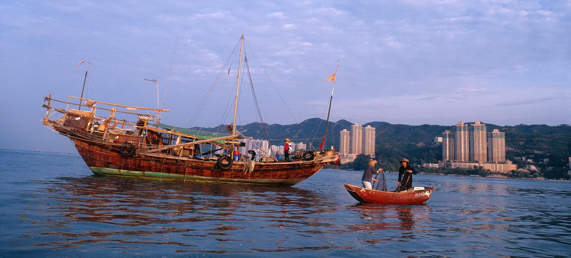 Hong Kong Bateau traditionnel de Pêche