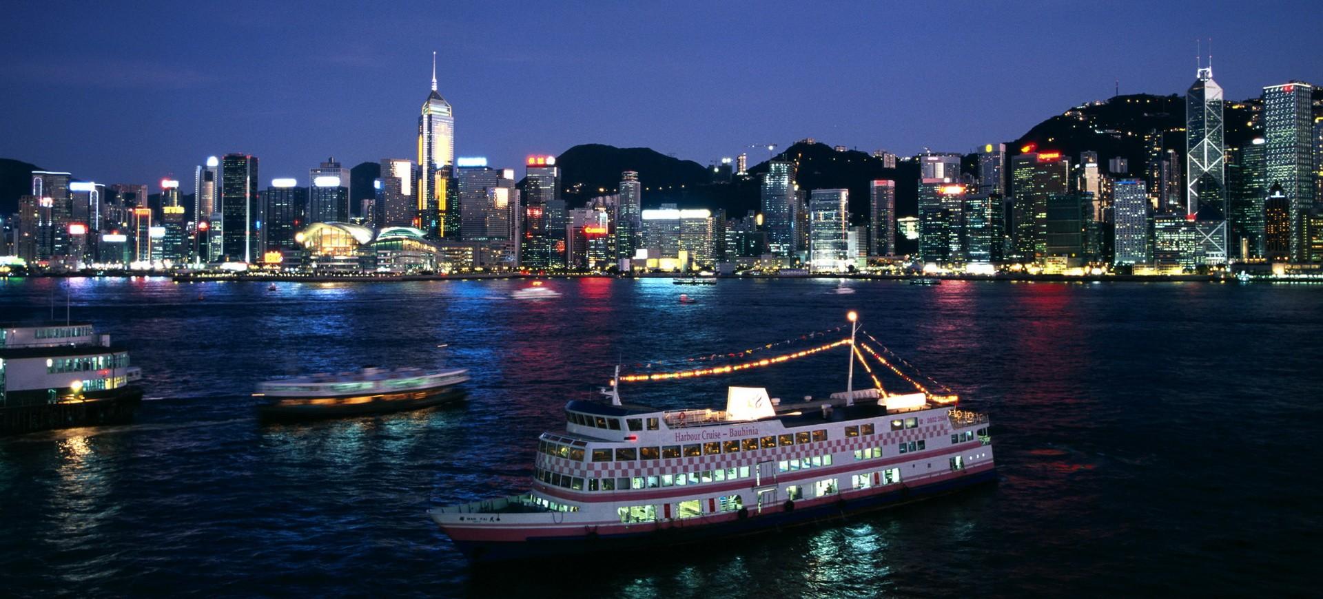 Croisière de nuit dans la Baie de Hong Kong