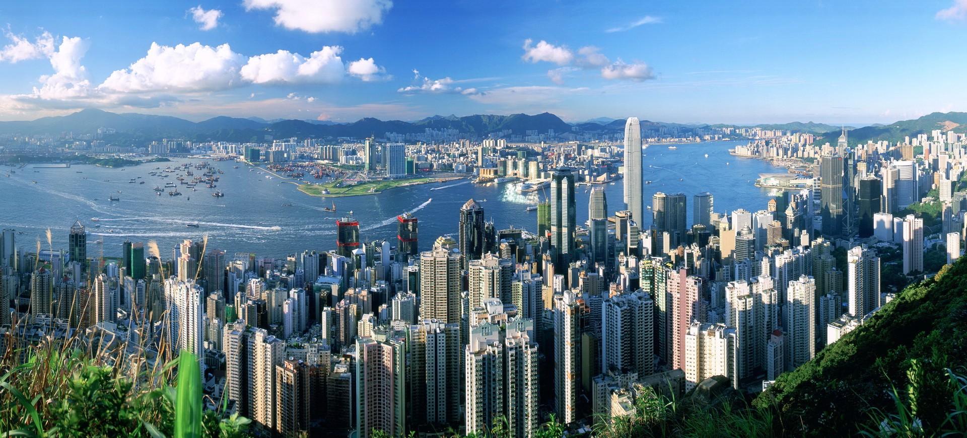 Hong Kong Panorama Vu Panoramique depuis le Pic Victoria