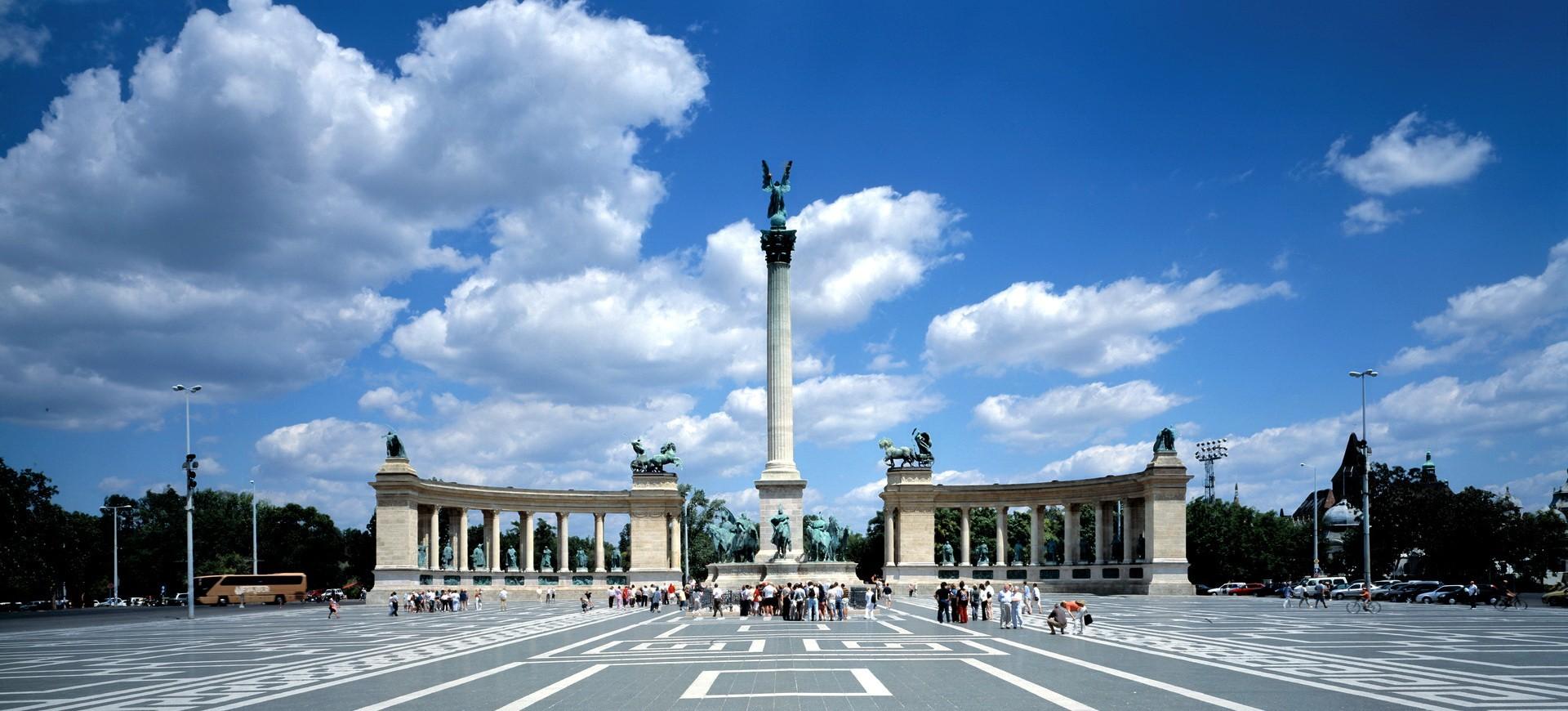 Place des Héros à Budapest Hongrie
