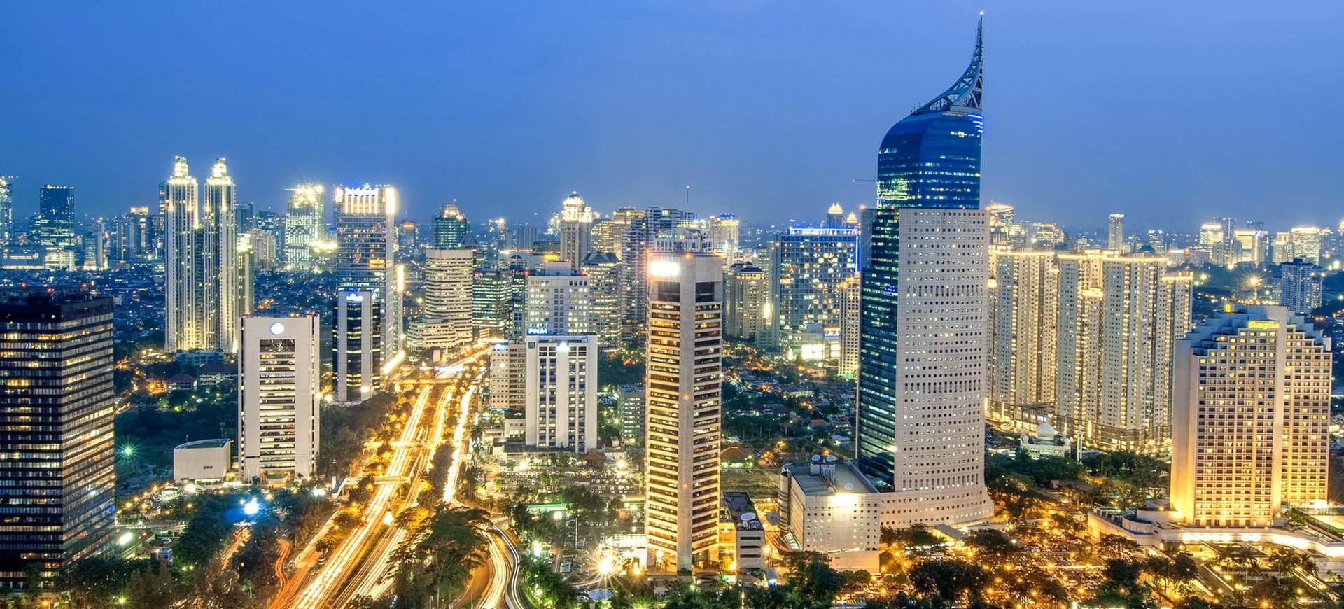 Indonésie Java Jakarta skyline
