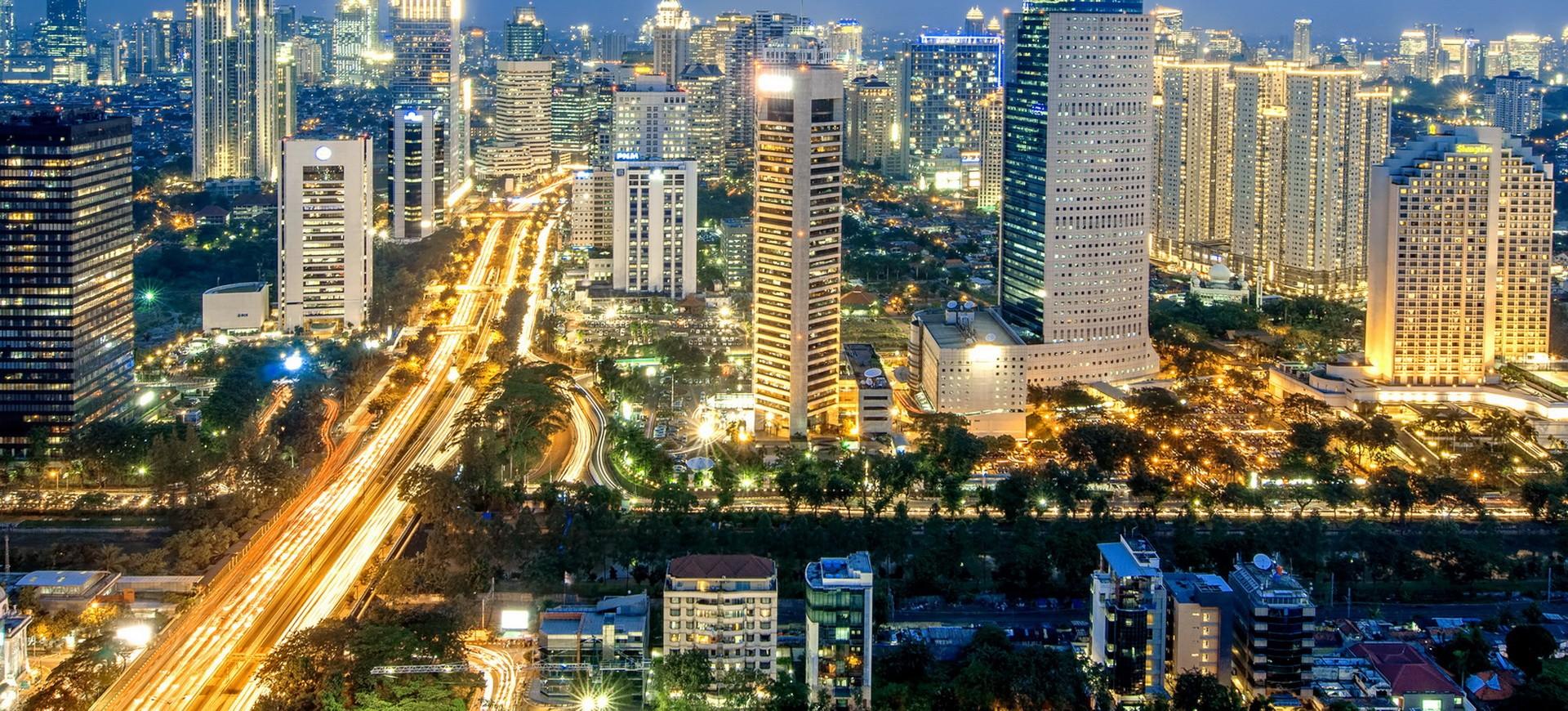 Skyline à Java en Indonésie