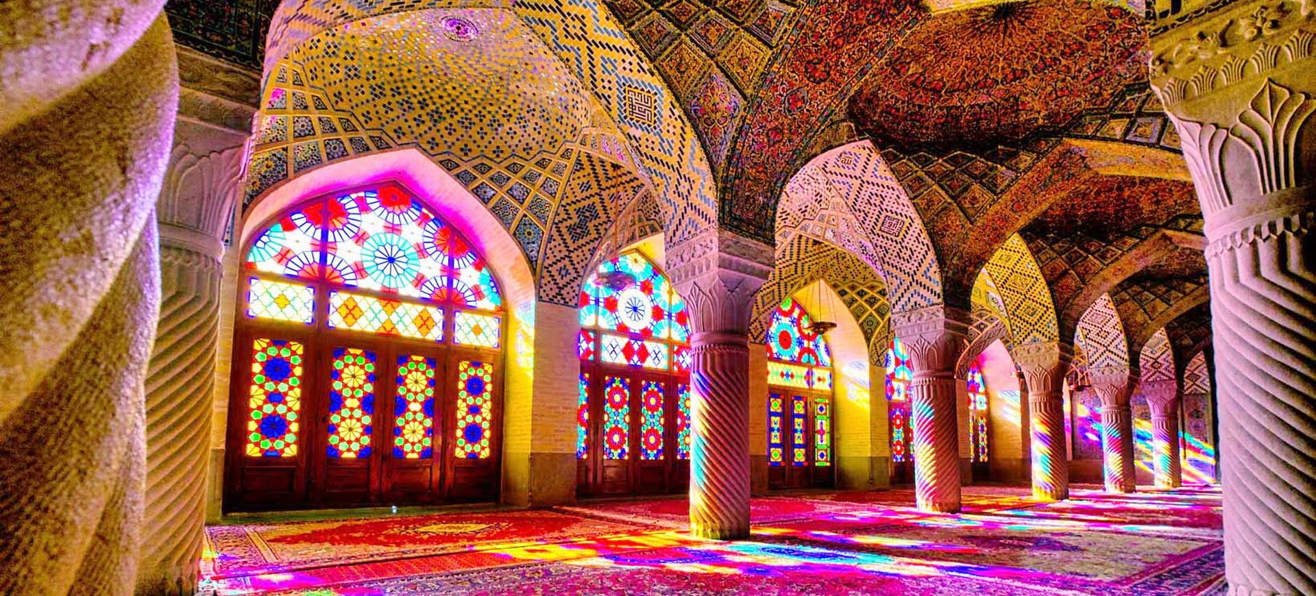 Mosquée Nasir ol  Molk à Chiraz
