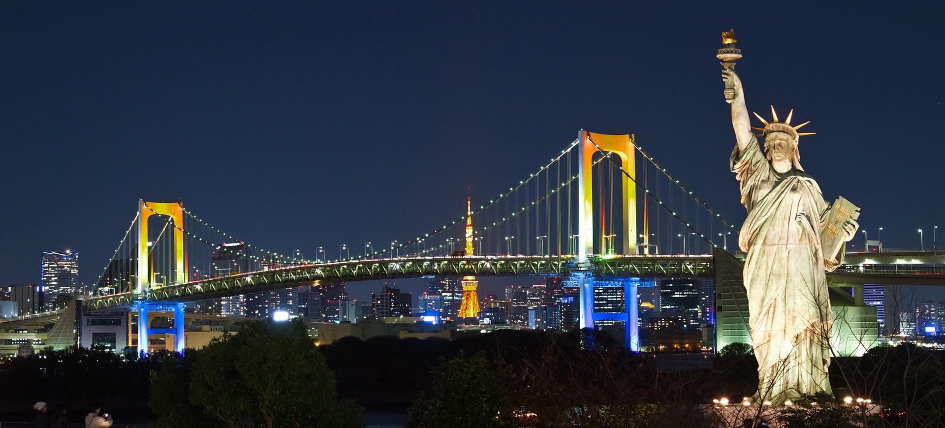 Quartier Ile de Odaiba à Tokyo