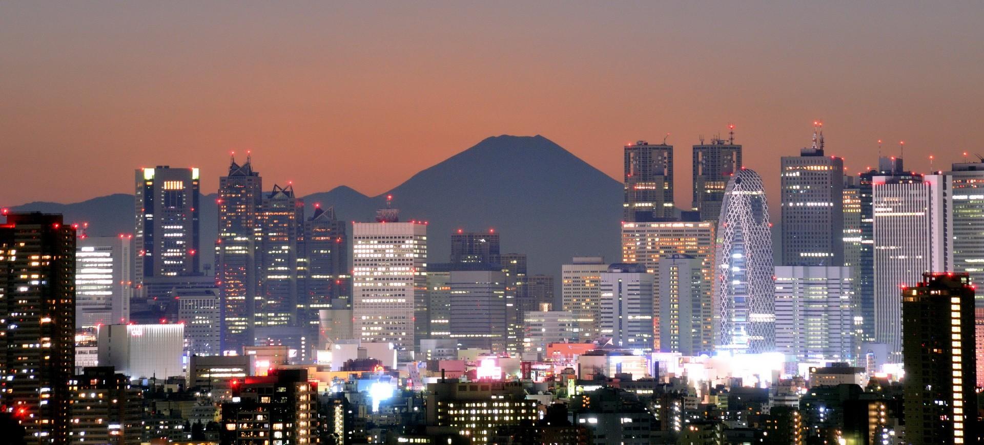 Vue panoramique sur Tokyo et Mont Fuji Yama