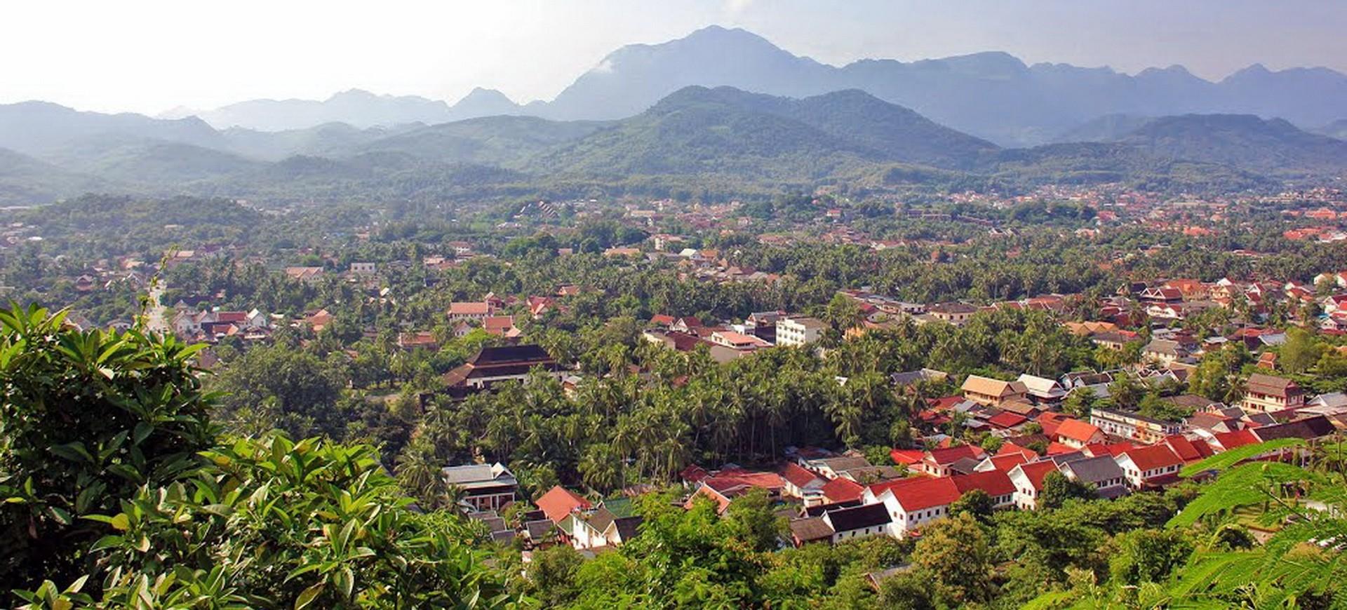 Luang Prabang Phousi vue panoramique au Laos