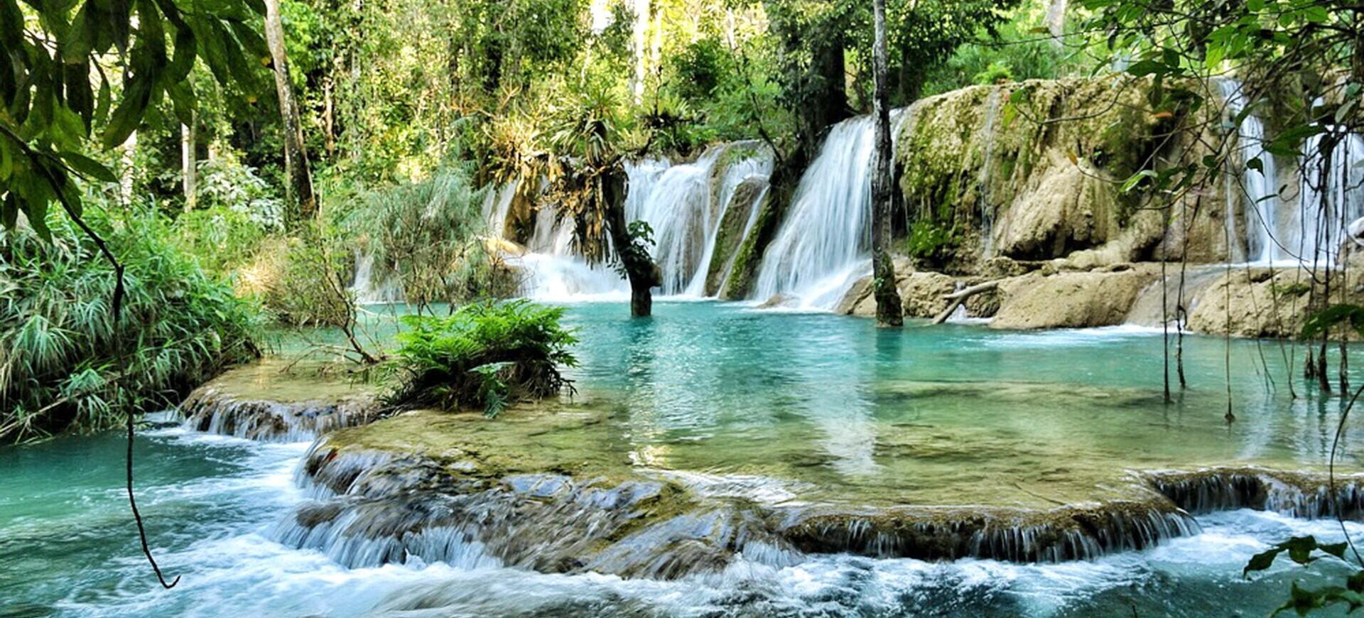 Laos Luangprabang Cascades Tad Sae 004