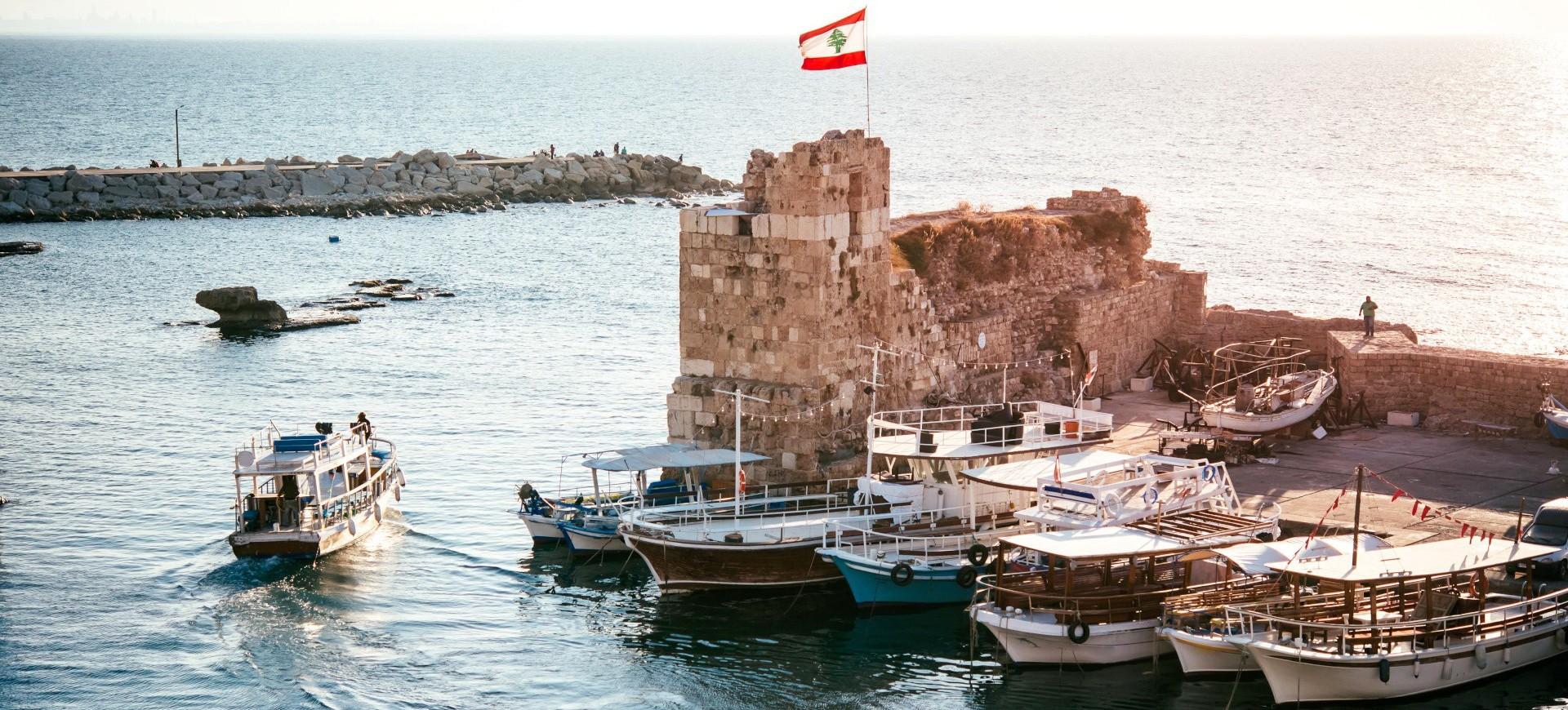 Le petit port de Byblos près de Beirouth au Liban