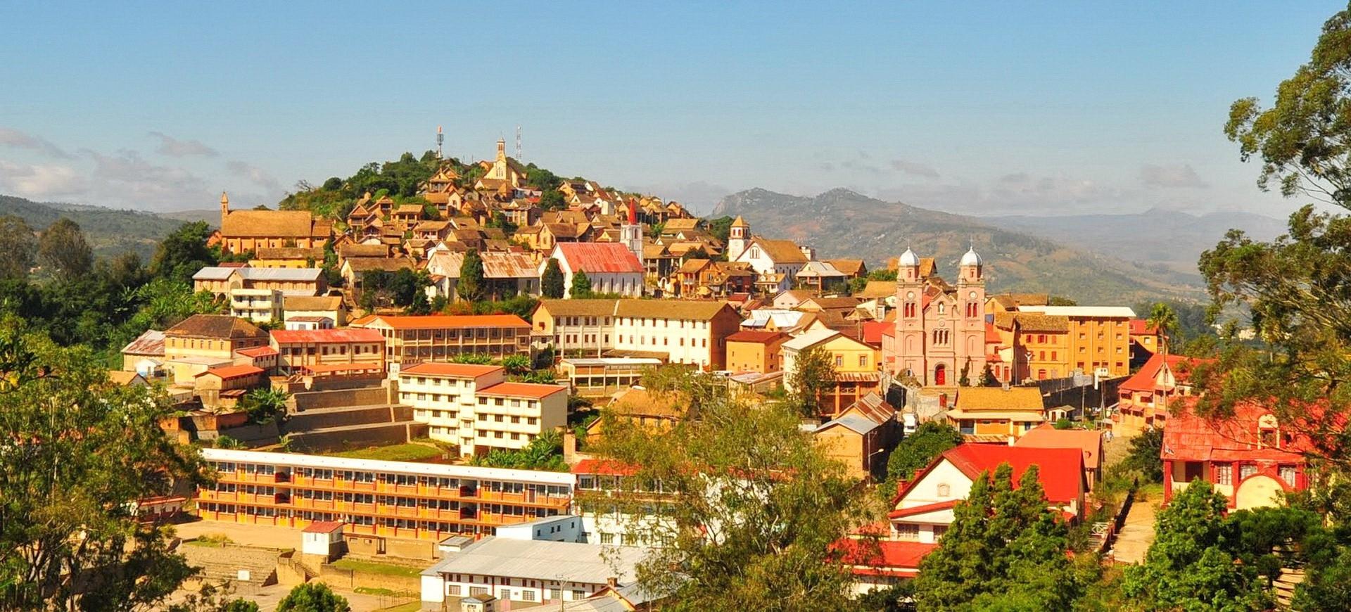 Vue panoramique sur la ville de Fianarantosa