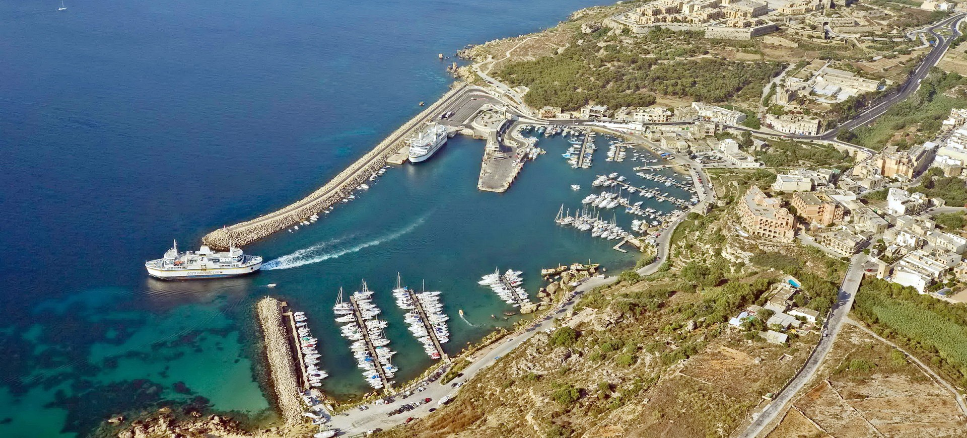 Malte Ile de Gozo Port de Mgarr vue aérienne