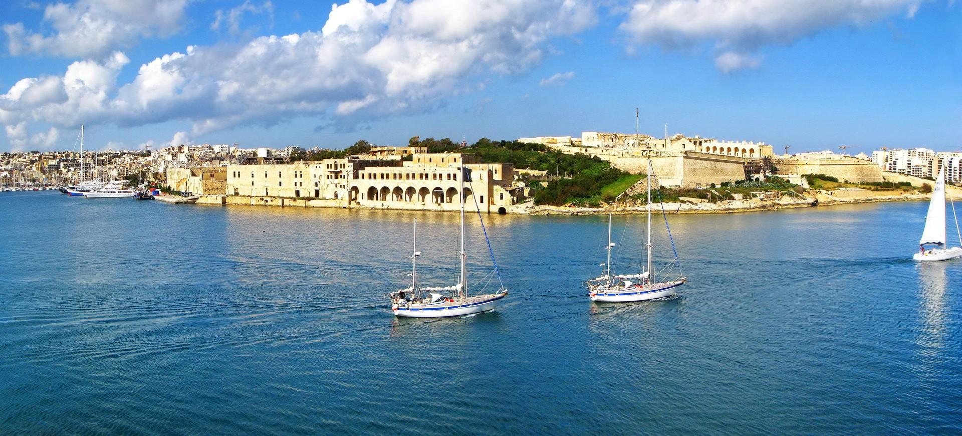 Malte Ile de Manoel et le Port de Marsamxett