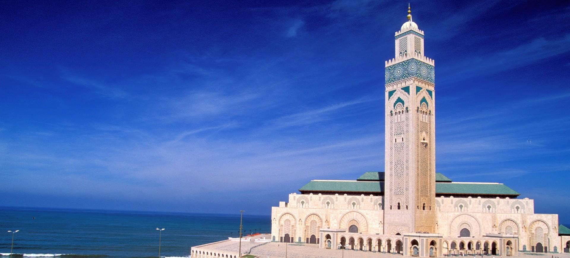 Mosquée Hassan II à Casablanca au Maroc