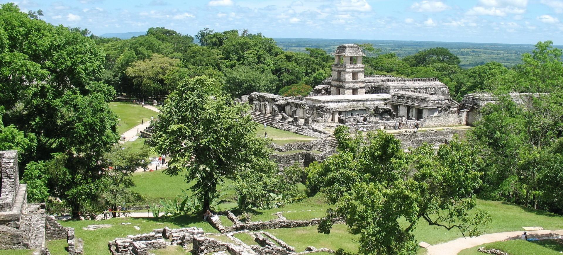 Site Aztèque à Palenque au Mexique en Amérique Centrale