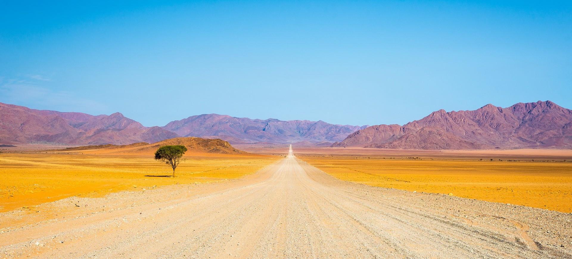 Namibie Route vers le désert de Namib