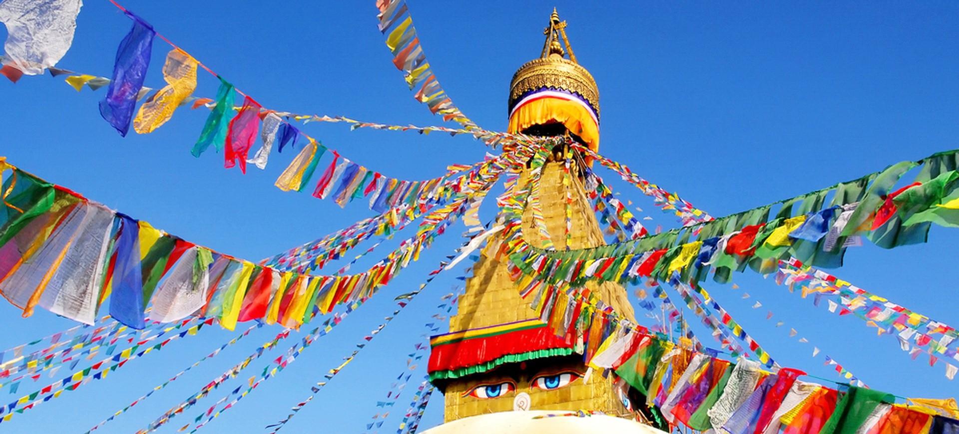 Népal Kathmandou Bodnath Stupa 001
