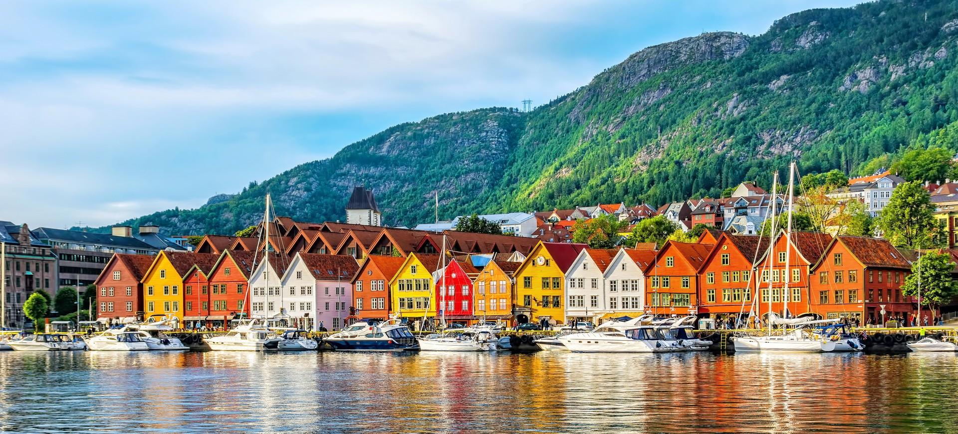 Hanseatic front de mer à Bergen en Norvège