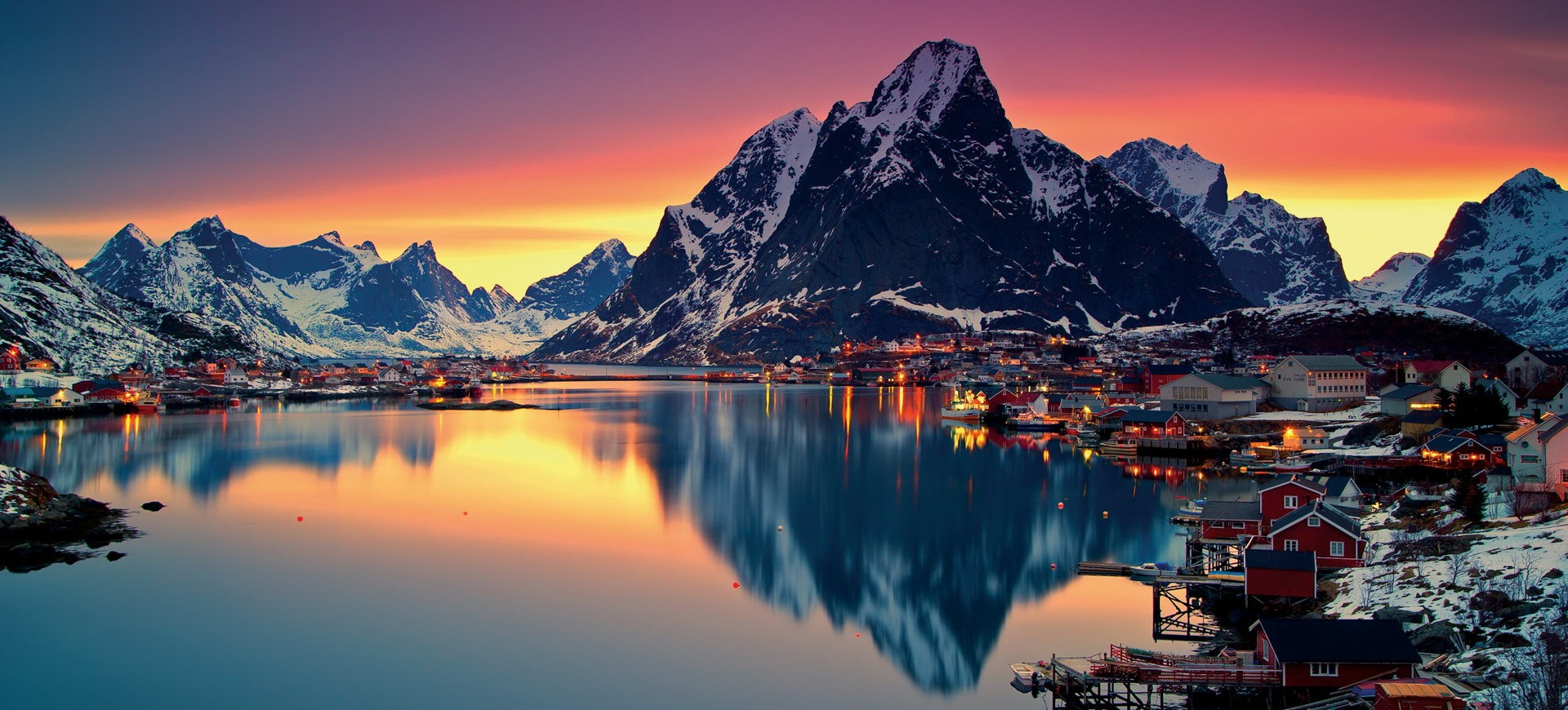 Iles Lofoten Reine en Norvège