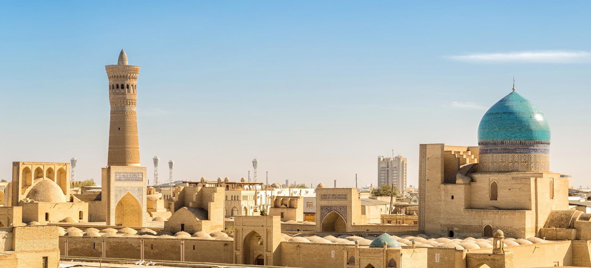 Vue panoramique sur la vieille ville de Bukhara