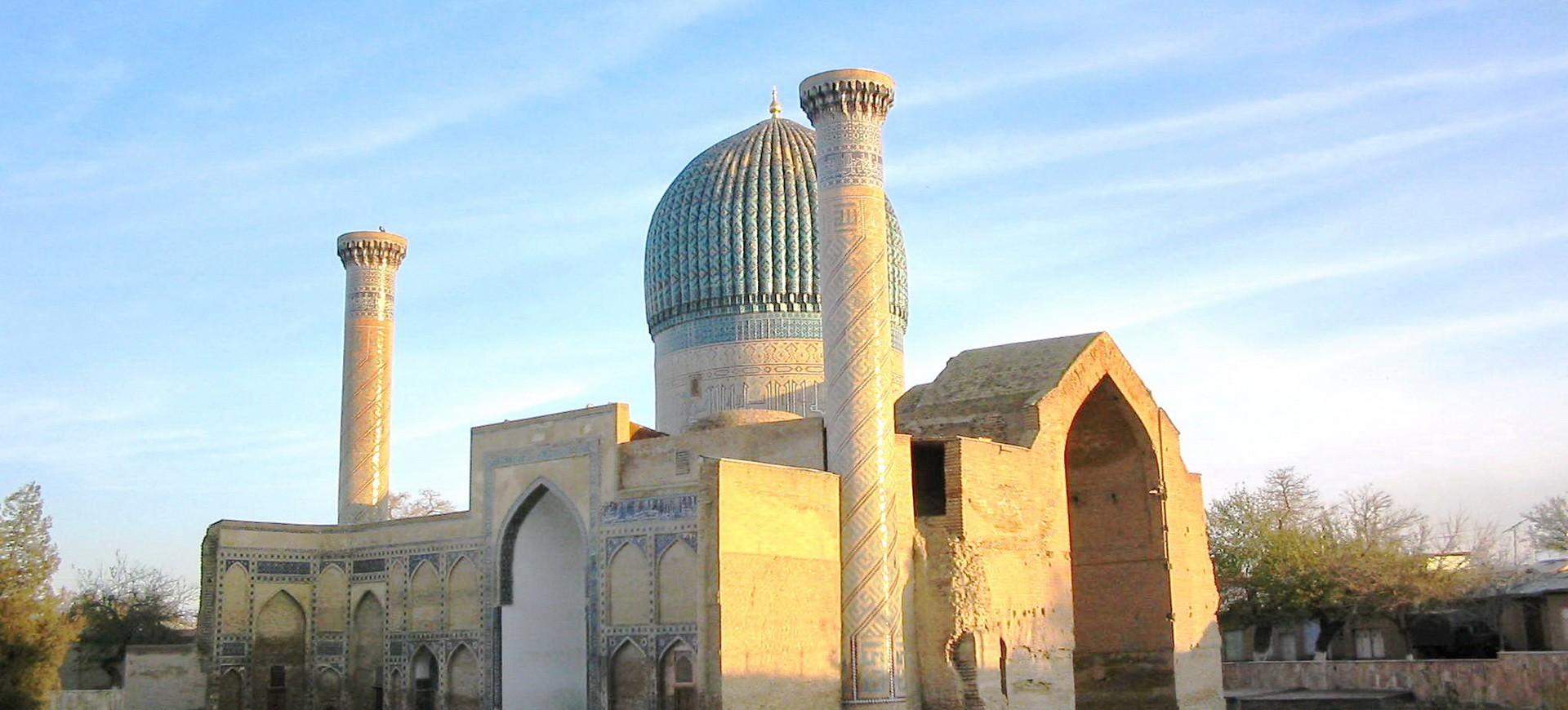 Mausolée de Tamerlin à Gour Emir à Samarcande en Ouzbékistan