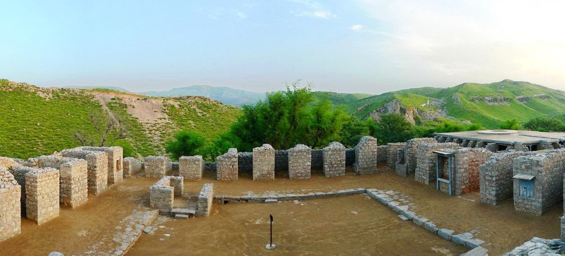 Monastère Bouddhiste à Jaulian à Taxila