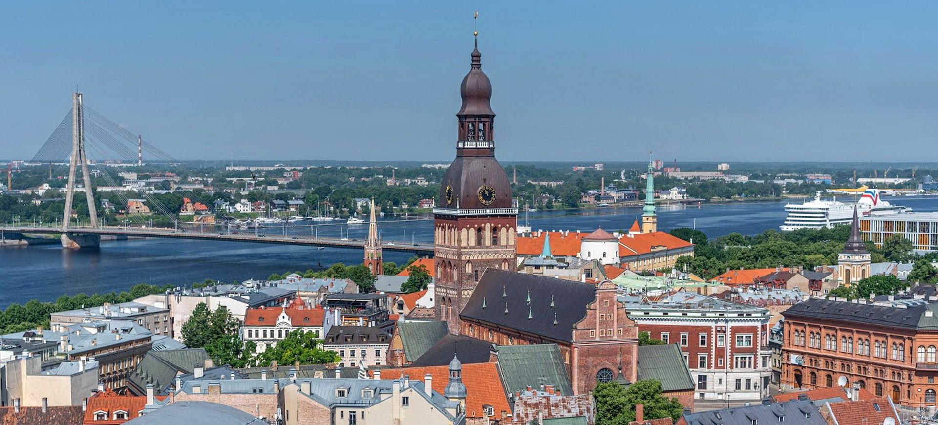 Pays Baltes Lettonie Riga vue panoramique
