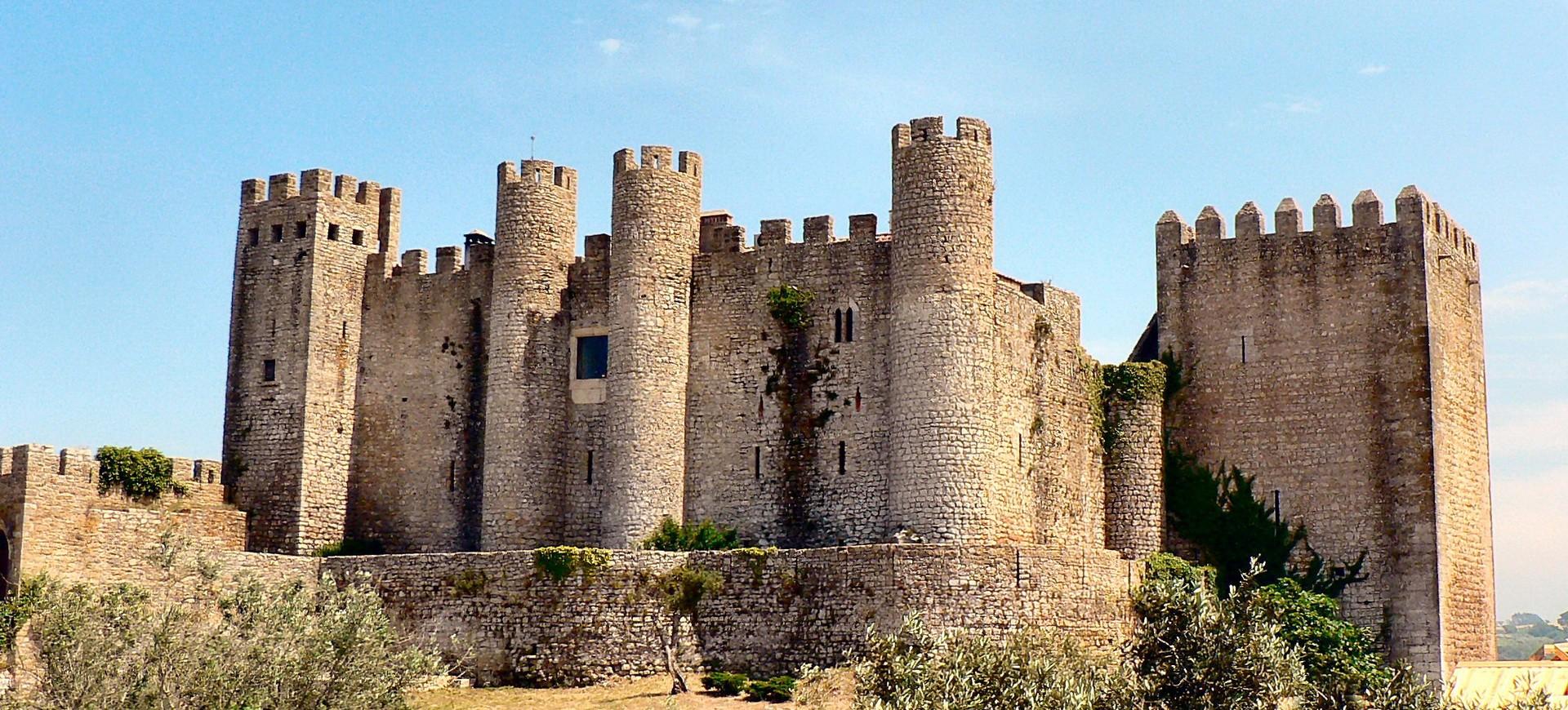 Chateau Obidos dans la village mediéval Obidos