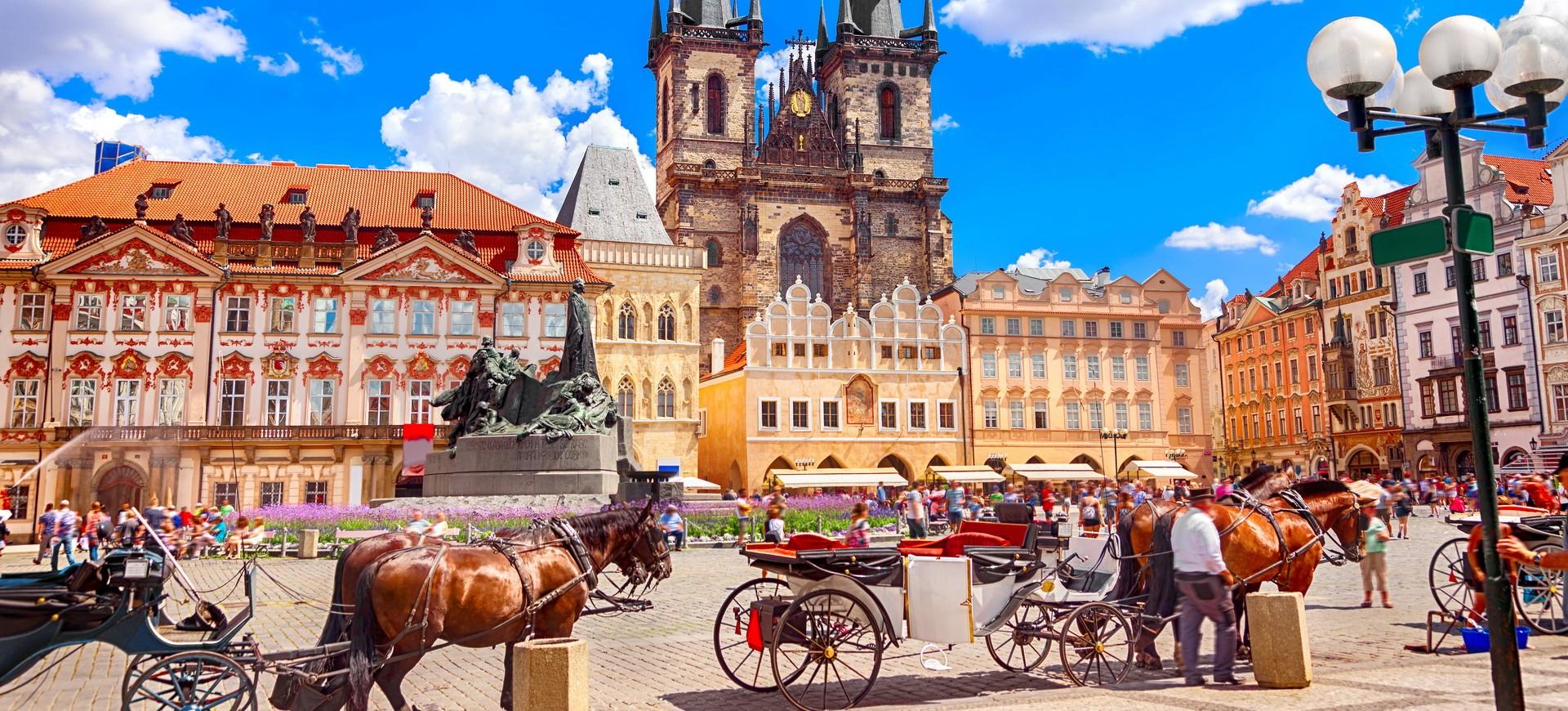 République Tchèque ou Tchéquie Prague Place Vieille ville