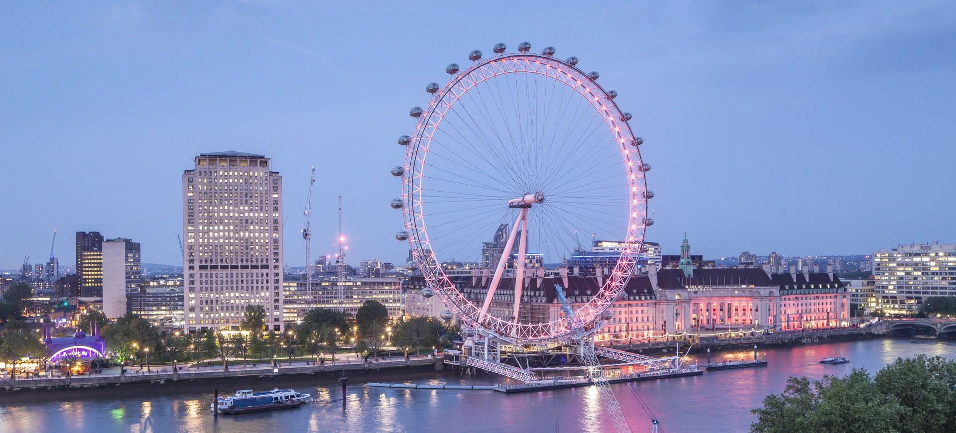 Royaume Uni Londres Tamise et London Eye le Millennium Wheel