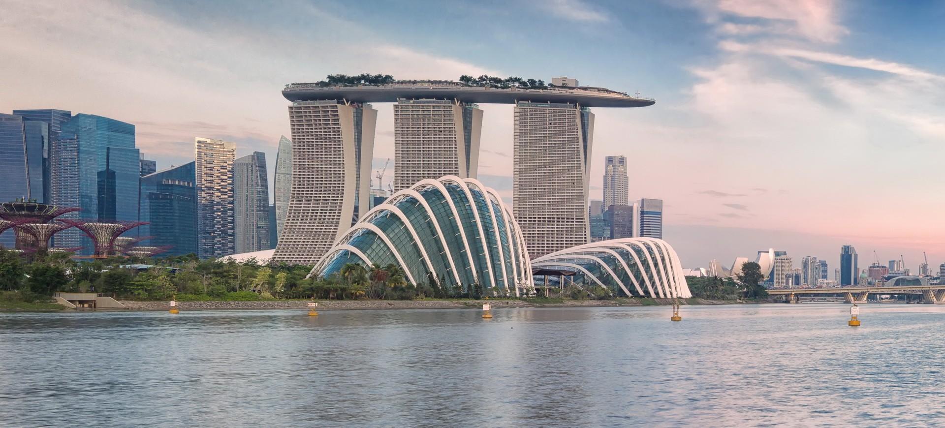 Vue panoramique Singapour