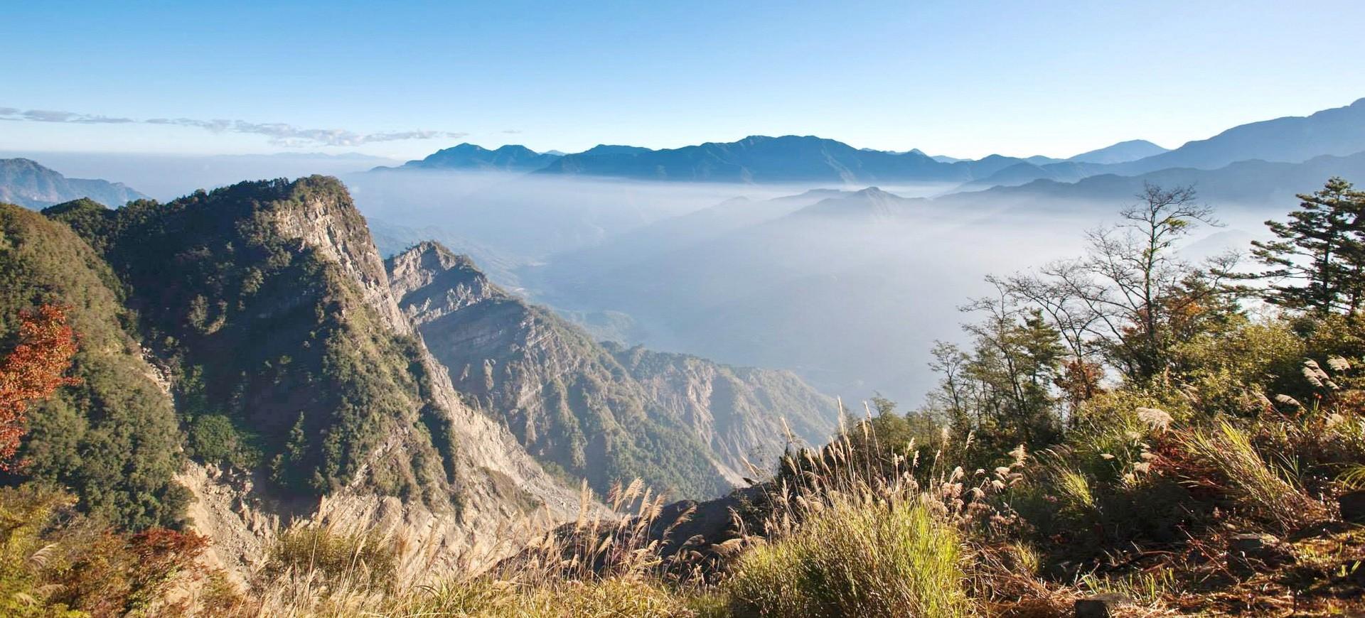 Montagne à Alishan à Taiwan